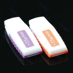 Mini USB 2 0 Micro SD Writer TF T Flash Memory Card Reader