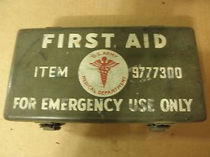 Original Jeep Willys MB Ford GPW First Aid Kit Box with Contents