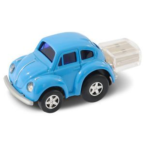 VW Beetle Car USB Memory Stick Flash Pen Drive 4GB Blue