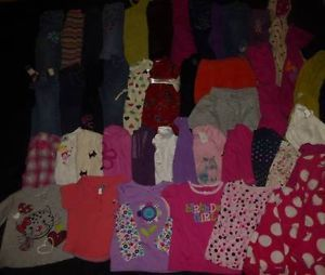 44P Used Baby Girl Fall Winter Back to School 18 to 24 Months 2T Clothes Lot 1