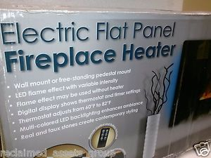 Grand Aspirations Electric Flat Panel Wall Mount Fireplace Heater Sawall 1350