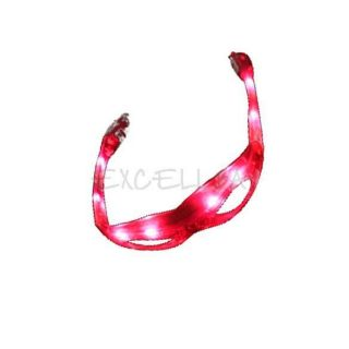LED Flashing Shades Light Up Glasses DJ Party Cool Changeable Red LED Glasses E