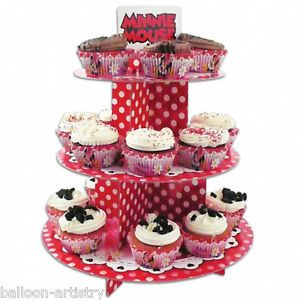 30cm Disney Minnie Mouse Red Polka Dots Party 3 Tier Cupcake Cake Stand