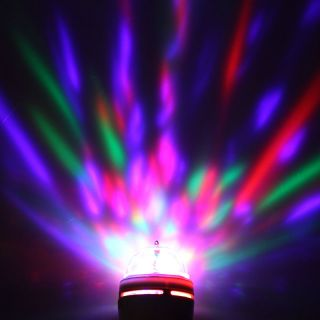 E27 3W Full Color Auto Rotating RGB LED Bulb Stage Light Xmas Party Lamp Disco