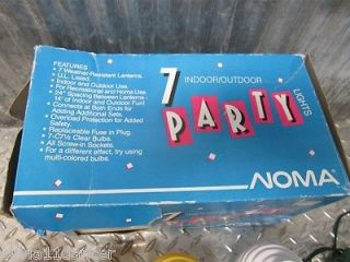 Noma Party String Lights Patio Camping RV Lanterns New Old Stock Blowmold Retro