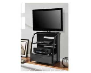 TV Stand Entertainment Center Media Console Black Storage Flat Cabinet Furniture