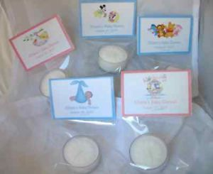 Mickey Minnie Baby Shower Tea Light Candle Favors