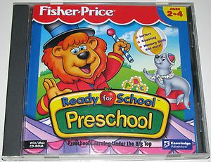 Fisher Price Ready for School Preschool PC Window Mac Educational Game 1996