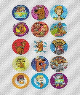 N348 Edible Image Birthday Decoration Cake Cookie Cupcake Toppers Scooby Doo