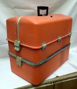 Vintage Large Orange Medi Kit 482 Possum Belly Tackle First Aid Box Umco Style