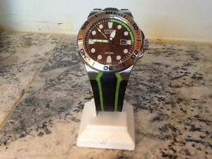 Citizen BN0090 01E Eco Drive Green Tone Scuba Diving Black Dial Men's Watch