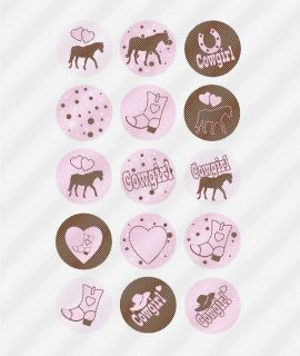 A439 Edible Icing Image Birthday Decal Cake Cookie Cupcake Toppers Cowgirl Horse