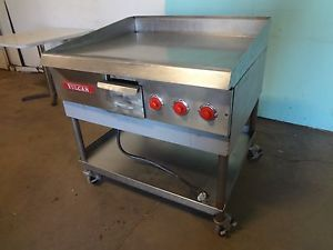 "Heavy Duty Commercial s s ""Vulcan"" 36"" Electric Griddle Flat Top Grill on Stand"