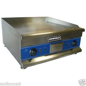 "New Uniworld 24"" Electric Griddle Grill Counter Top 110 Volt UGR CH24"