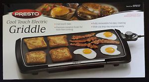 New Presto Electric Griddle Grill Jumbo Cool Touch 07037