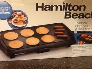 New Hamilton Beach 38515T Family Size Electric Griddle Grill Skillet Nonstick