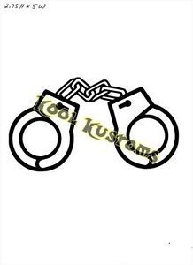 Vinyl Decal Sticker Police Hand Cuffs Car Truck Window Laptop