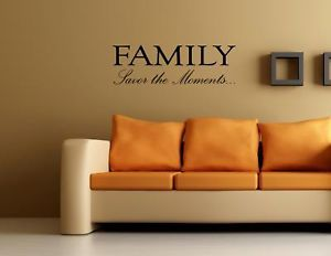 Family Savor The Moments Wall Quotes Decals Sayings Art