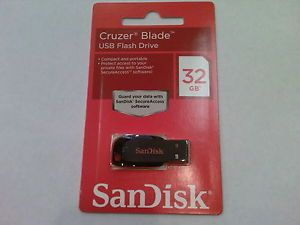 SanDisk Cruzer Blade 32GB USB Flash Pen Drive CZ50 Memory Stick Canada Seller