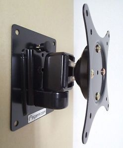 "LCD LED Flat TV Tilt Swivel Wall Mount 13 32"" Vesa 75 100 for Apple TI Black"