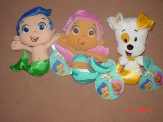 "Bubble Guppies Molly Puppy Gil Plush Set of 3 New 9"" Pillow Pet"
