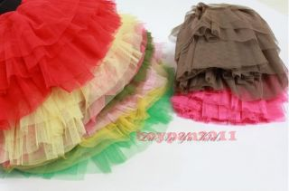 New Kids Toddlers Girls Princess Voile Tutu Skirts Fancy Dress 9 Colours Sz3 7Y