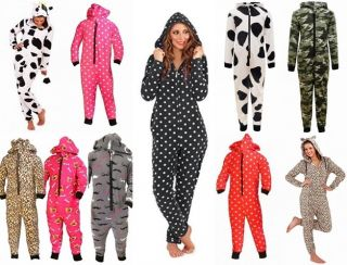 Kids Onesie Girls Boys Toddler All in One Jumpsuit Soft Fleece Pyjamas Ages 3 13