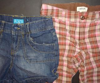 6 Pieces Baby Girl Clothes Bottoms Lot Size 10 12 Shorts Capris Skirt