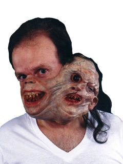 Twosome Gruesome Adult Mask Gory Scary Creepy Prop Head Halloween Theme Party
