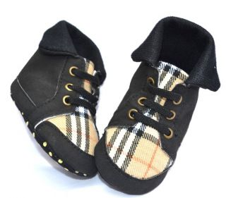 Yellow Black Tennis High Top Infant Toddler Baby Boy Shoes EUR Size 19 21 23