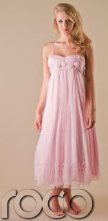 Girls Baby Pink Flower Girl Dress Prom Party Wedding Bridesmaid Dresses 1 14 Yrs