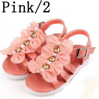 Hot Leather Toddler Baby Girl Child Sandals Shoes Size US 5 8 Age 9 36 Months