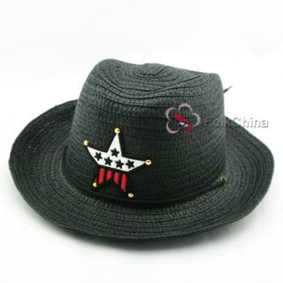 Lovely Kids Boys Girls Children Straw Western Cowboy Sun Hat Cap Costume