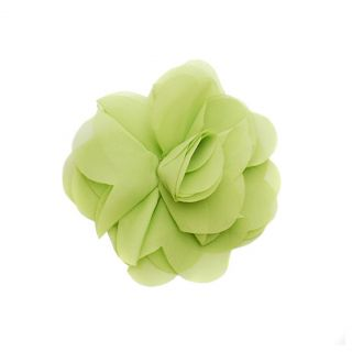 Reflectionz Girls Large Lime Green Chiffon Flower Hair Clippie
