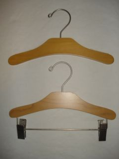New Baby Gap Wooden Infant Toddler Kids Clothes Top Bottom Wood Hangers 100