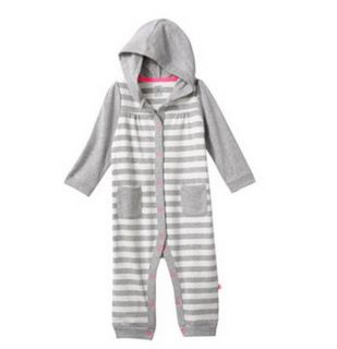 Carters Baby Girl Fall Winter Clothes Coverall Gray 3 6 9 12 18 24 Months