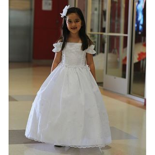 Angels Garment Toddler Girls 4T White Off Shoulder Occasion Dress