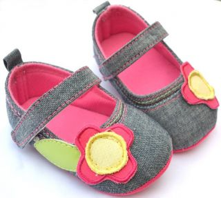 Mary Jane Infant Toddler Baby Girl Shoes Size 1 2 3