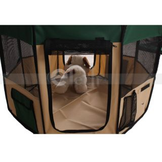New Pet Dog Cat Tent Puppy Playpen Exercise Play Pen Crate Pink Green Blue