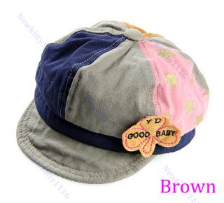 Cute Baby Toddler Infant Boys Girls Newsboy Mixed Color Baseball Cap Beanie Hat