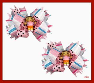 So Adorable Dora The Explorer Girl Hair Bows Hairbow