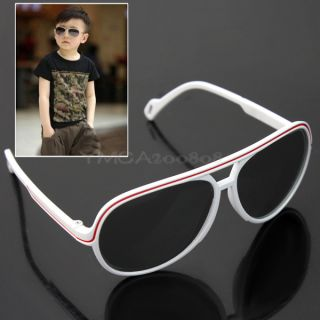 Trendy Baby Boys Girls Kids Sunglasses Cute Child Goggles White UV400 Unisex