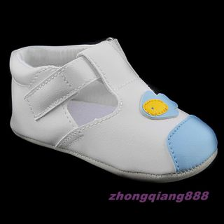 Baby Infant Soft Sole Toddler Shoes Skid Proof 6 18 Months Boy Girl White Blue