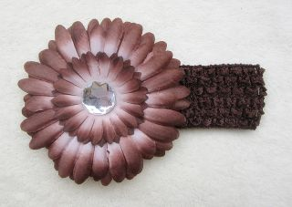 Lovely Baby Girls Crochet Headband Daisy Flower Hair Clip  Lots