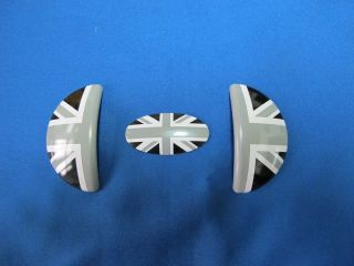 Mini Cooper s R55 R56 R57 Black Union Jack Aluminum Interior Door Handle Cover