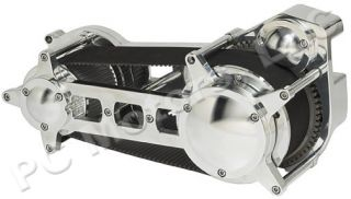 Ultima El Bruto 131 CI Black and Chrome Driveline Engine Motor Kit EVO Harley