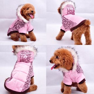 Cute Pink Camo Dog Clothing Wear Autumn Winter Coats Dog Jacket Sweater Clothes