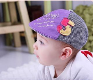 4Color Kid Toddler Infant Boy Baby Hat Casquette Peaked Baseball Beret Cap 6 24M