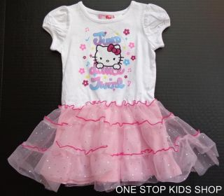 Hello Kitty Toddler Girls 24 MO 2T 3T 4T 5T Outfit Dress Set Skirt Shirt Tutu