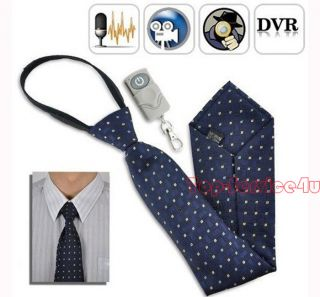 New Mini Hidden Spy Tie Camera Wireless Remote Necktie Tiny Pinhole DVR 4GB